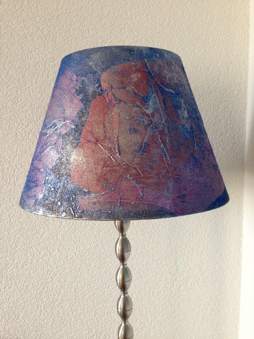 Christelle Robert - Abat-jour (Bleu - Rouge)